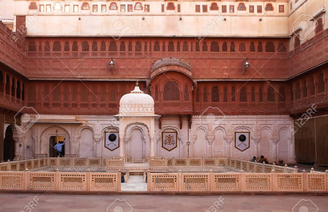 Junagarh Fort in city of Bikaner rajasthan state in indi Stock Photo - 16919614