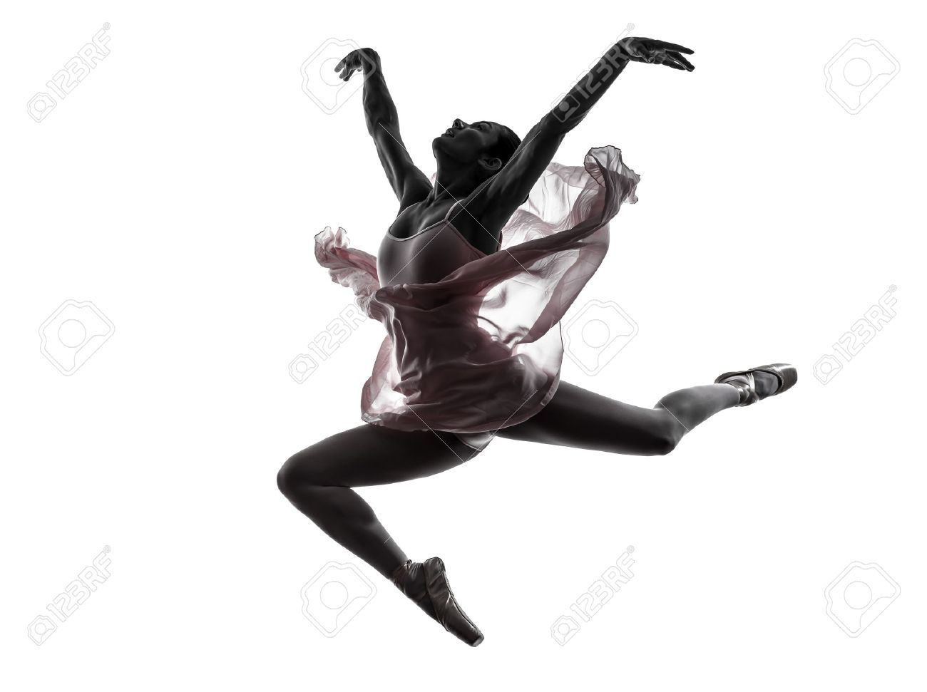 Seamless pattern of ballet dancers royalty free stock photography - Ballet Dancer One Woman Ballerina Ballet Dancer Dancing In Silhouette On White Background