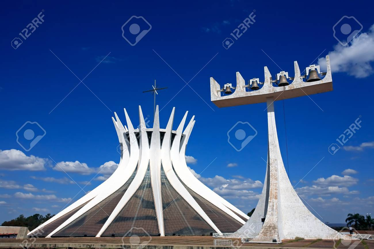 2ec95c94db5ee5 ... Metropolitan Cathedral of Brasilia city capital of Brazil UNESCO World  Heritage site is an expression of the geniality of the architect Oscar  Niemeyer