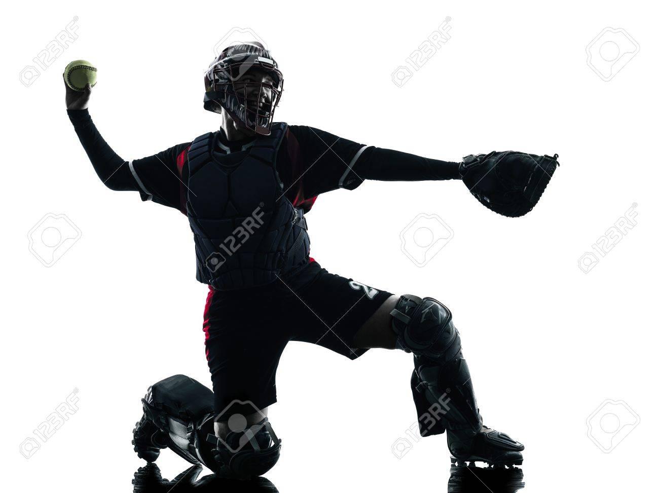 Softball Catcher Silhouette