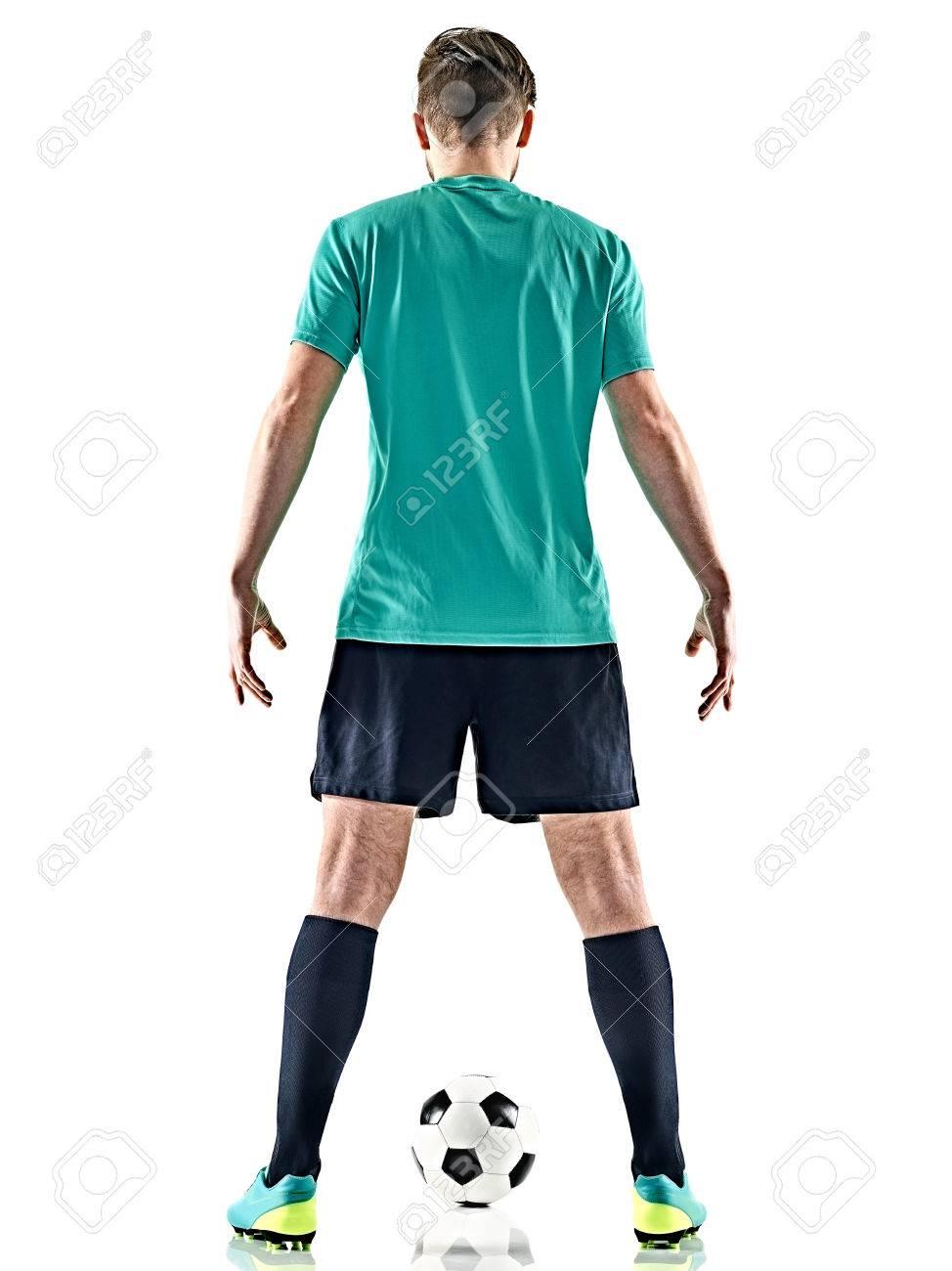 joueur de foot de dos