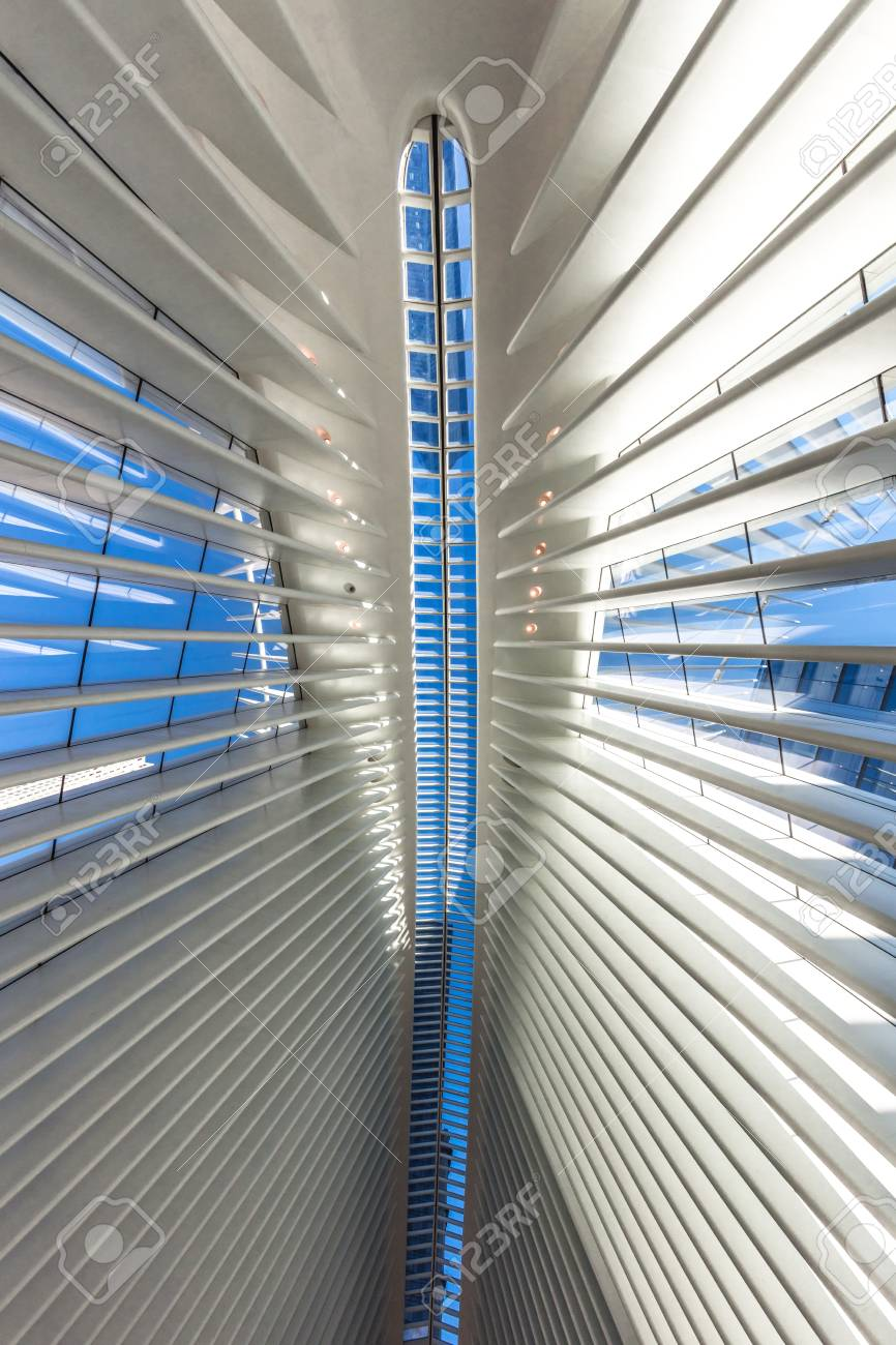 Interior View Of The Occulus World Trade Center Station Design Stock Photo Picture And Royalty Free Image Image 119773828