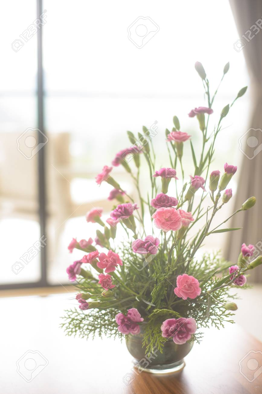 Image Of Artificial Flower Arrangement For Living Room French Rose ...