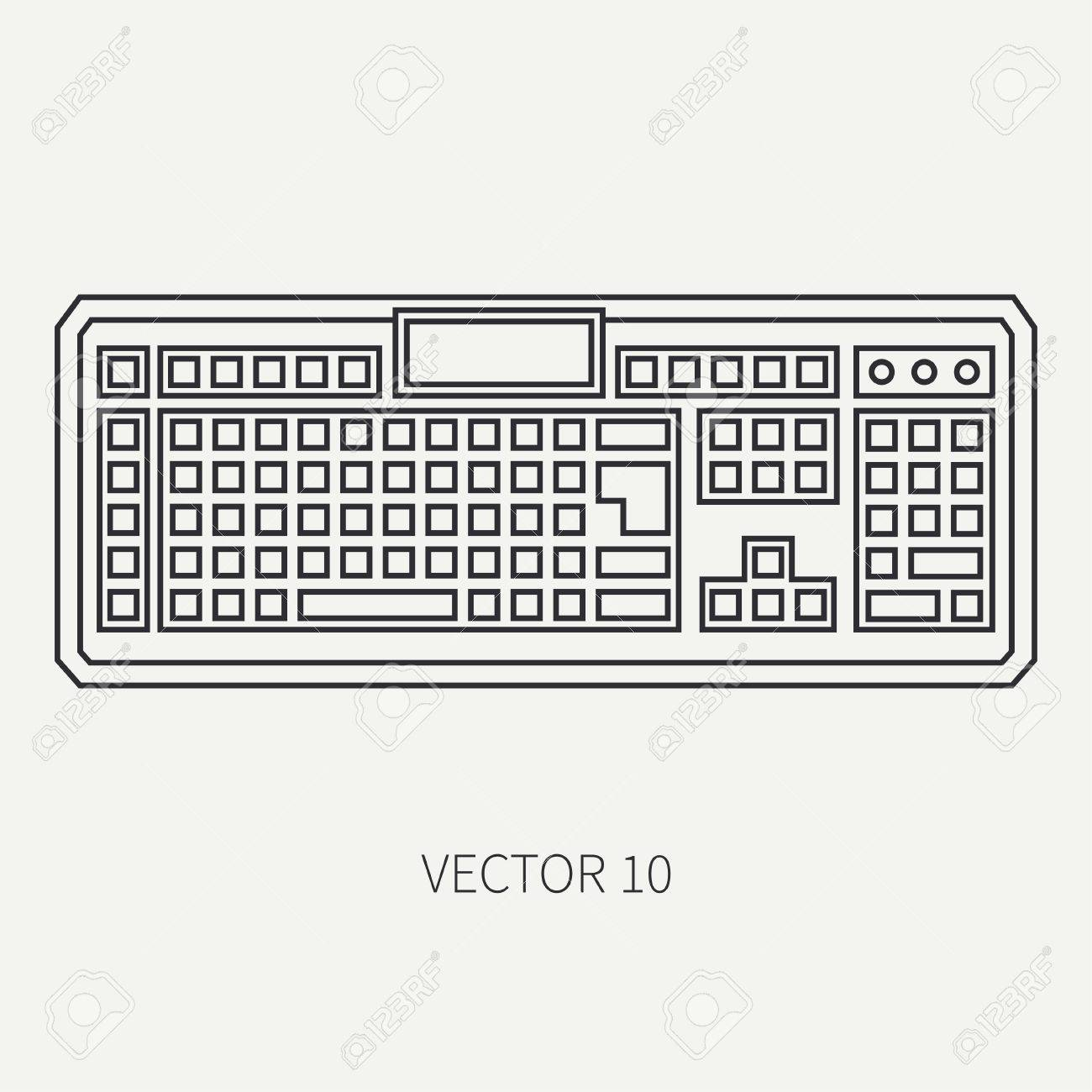 Line Flat Vector Computer Part Icon Keyboard Cartoon Style Royalty Free Cliparts Vectors And Stock Illustration Image 77976093
