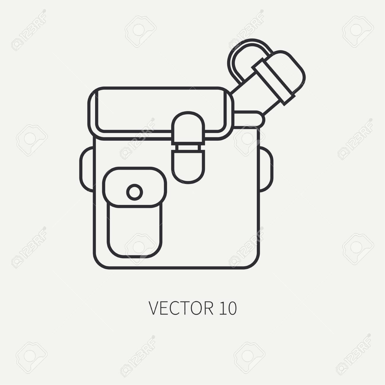 Línea Vector Caza Plana Y Camping Icono De Jar d585ad83930