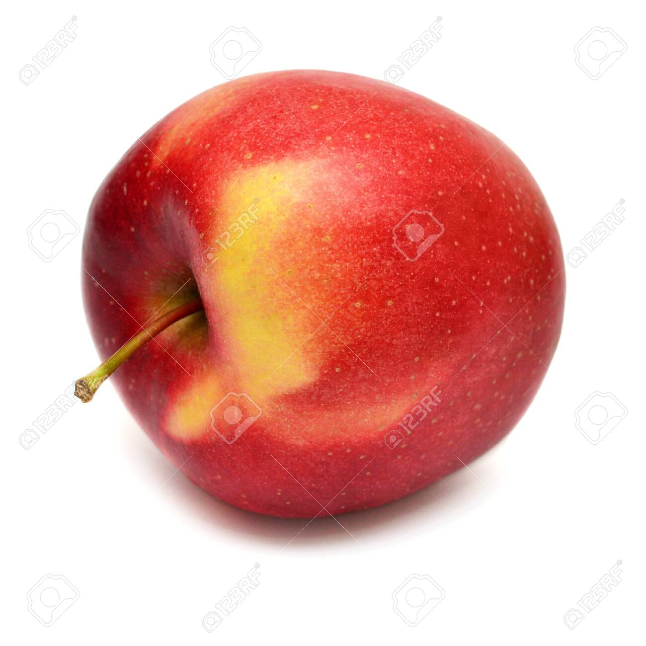 Red apple closeup fruit isolated on white background - 143211566