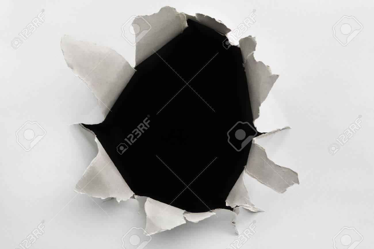 Empty hole on cracked wall Stock Photo - 5468970