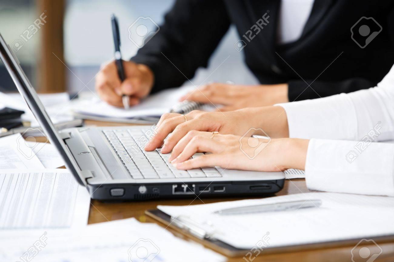 Typing writing