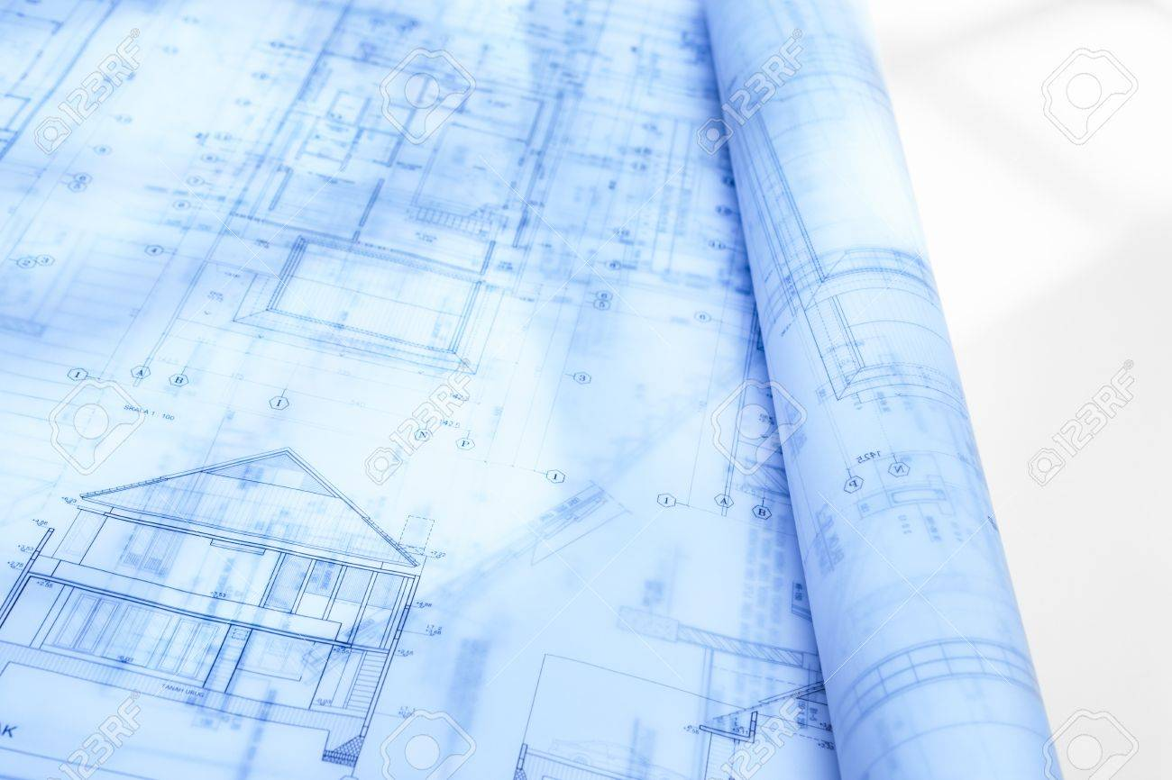 Architecture blueprint paperwork on table with bluish color stock architecture blueprint paperwork on table with bluish color stock photo 10178081 malvernweather Gallery