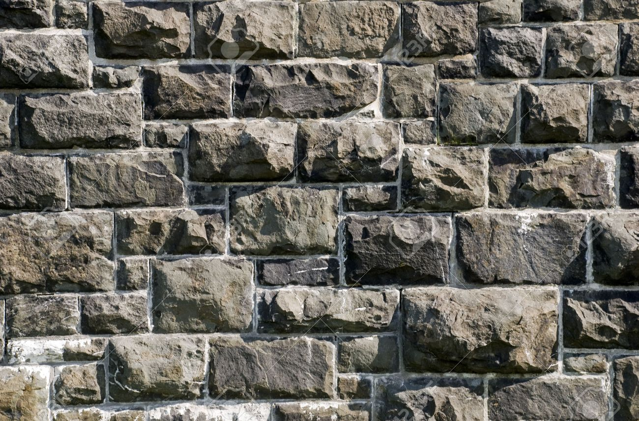 Old granite stone wall of a 19th century fort in Quebec, Canada Stock Photo - 5537033