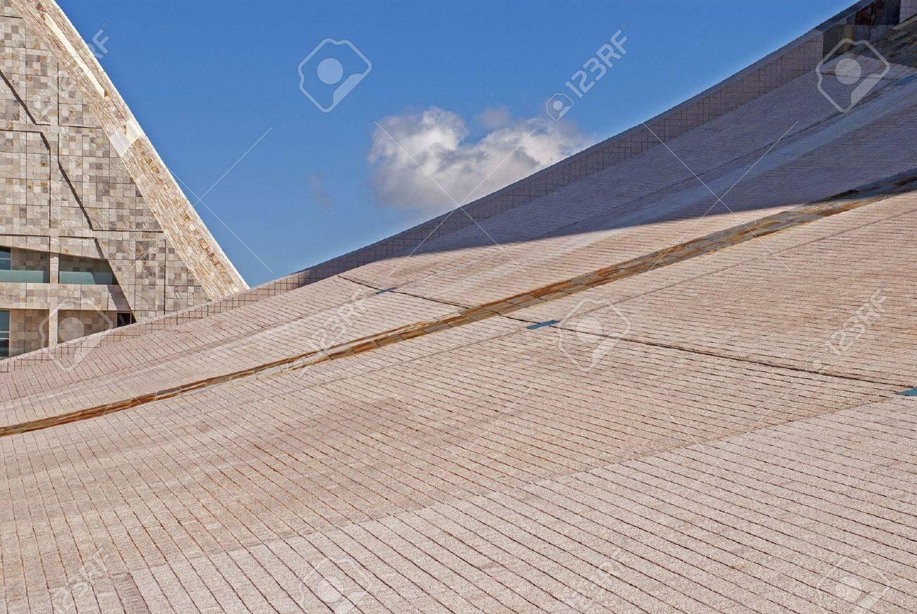 Roof of stone detail - City of Culture of Galicia, Santiago de Compostela, Galicia, Spain Stock Photo - 17530679