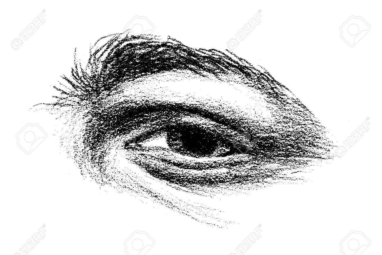 Dessin D Un Oeil Avec De Lourdes Front Arqué