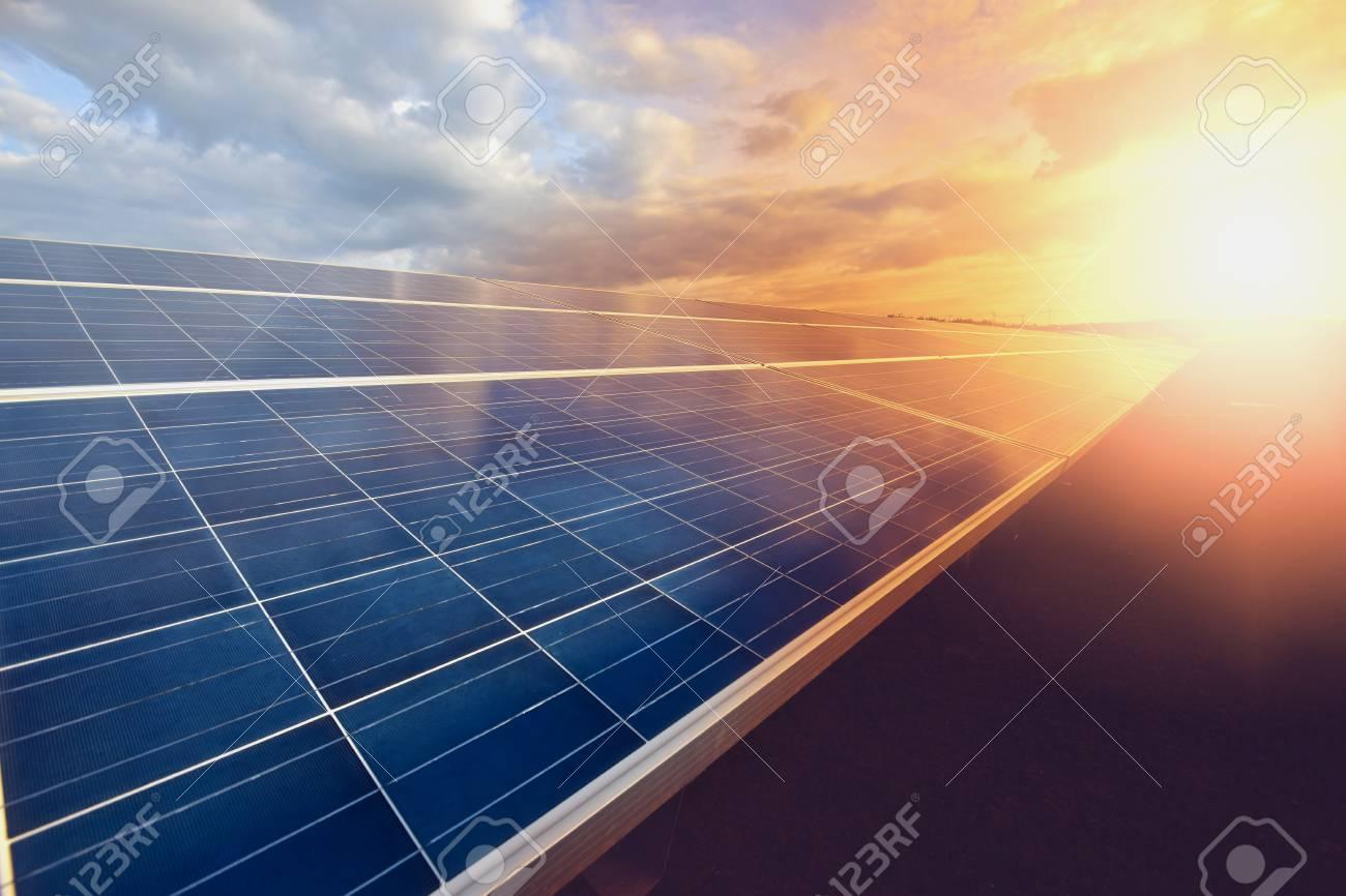 solar panel on sky background - 91306665