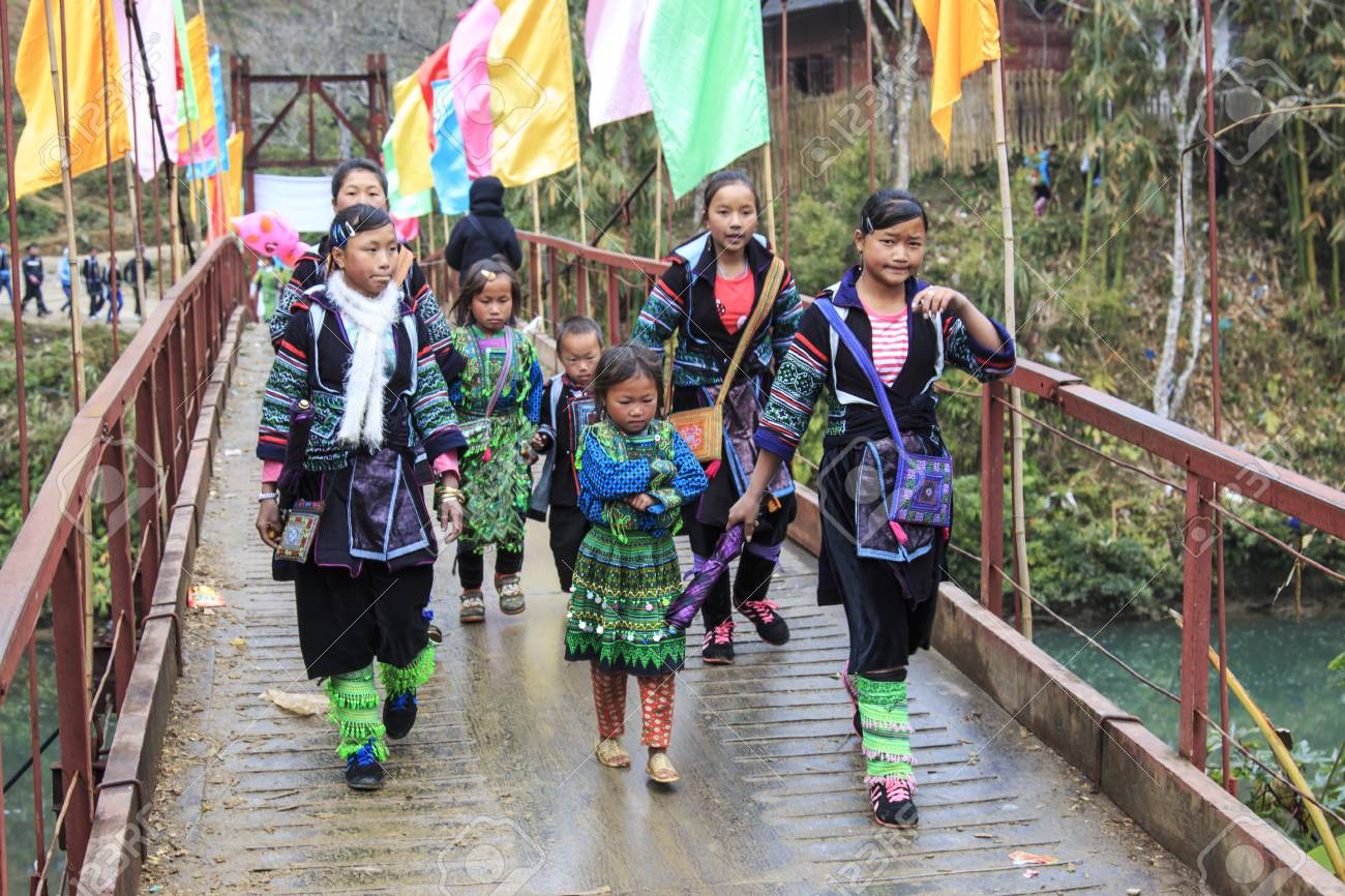 Sapa, Vietnam - February 16, 2016: Aboriginal people of the mountains