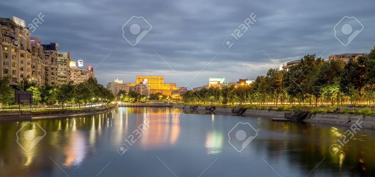 Bucharest Parliament Palace at Night - 55397089