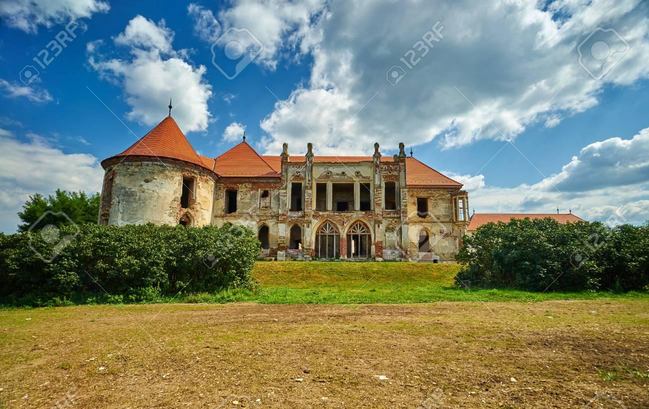 Banffy Castle In Bontida Romania Stock Photo