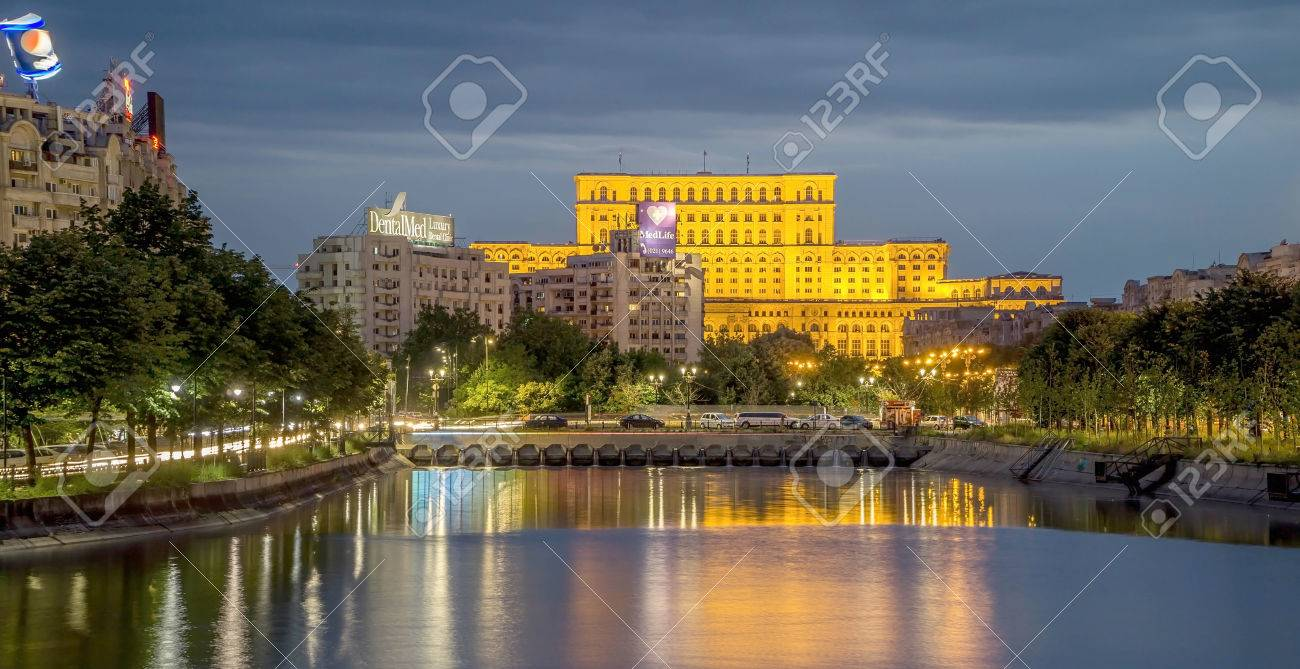 Bucharest by Night. Palace of Parliament - 54040238