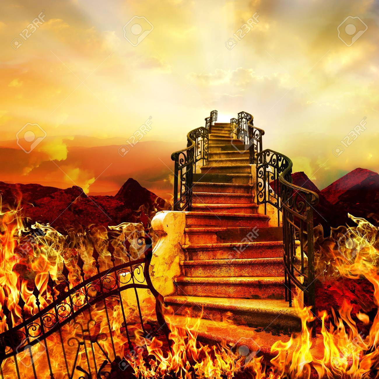 Stairway to Heaven Coming from Hell. - 53394494