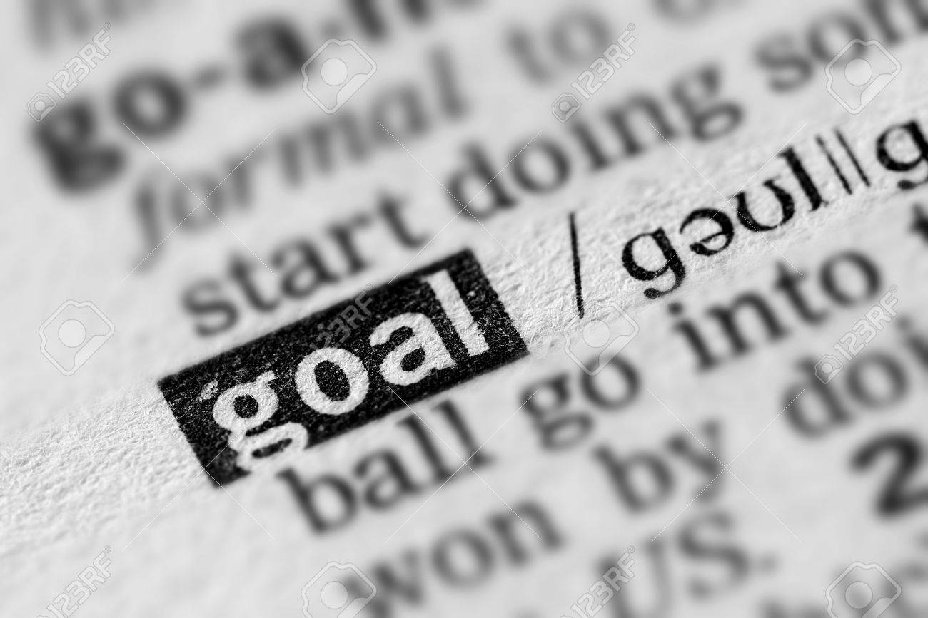 Goal Definition Word Text in Dictionary Page