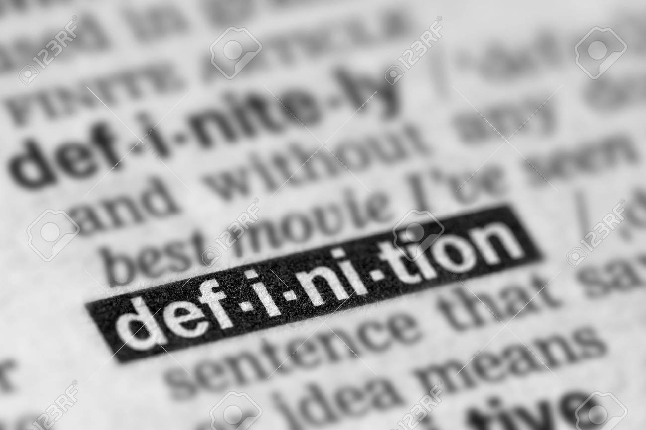 Definition Word Text in Dictionary Page - 54040094
