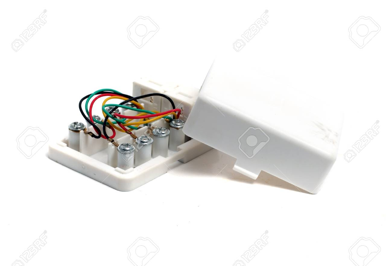 External Telephone Socket On A White Background Stock Photo Picture Sockets Wiring 43695353