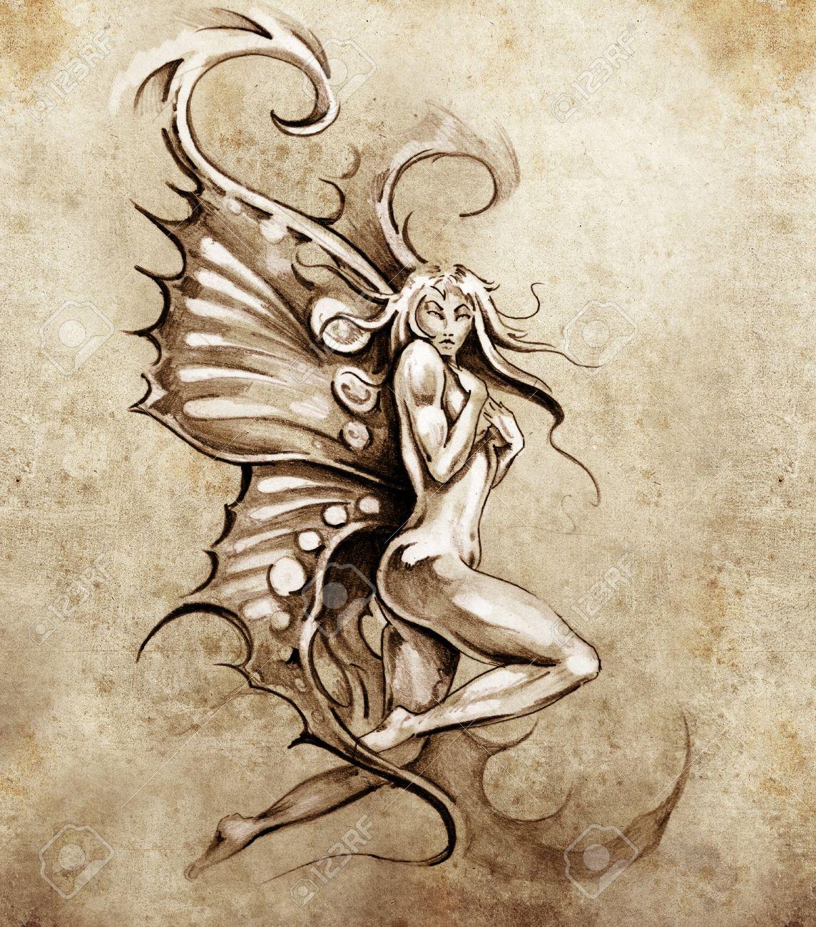 Nude fairy drawings Nude Photos 49