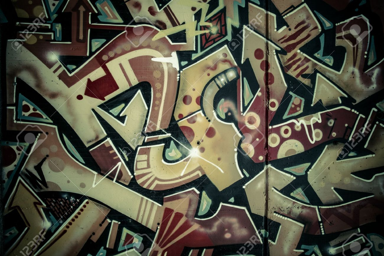 Colorful graffiti, abstract grunge grafiti background over textured wall - 19481393