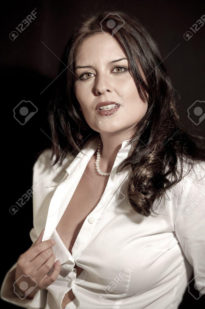 fine sexy secretary with white shirt Stock Photo - 21086543