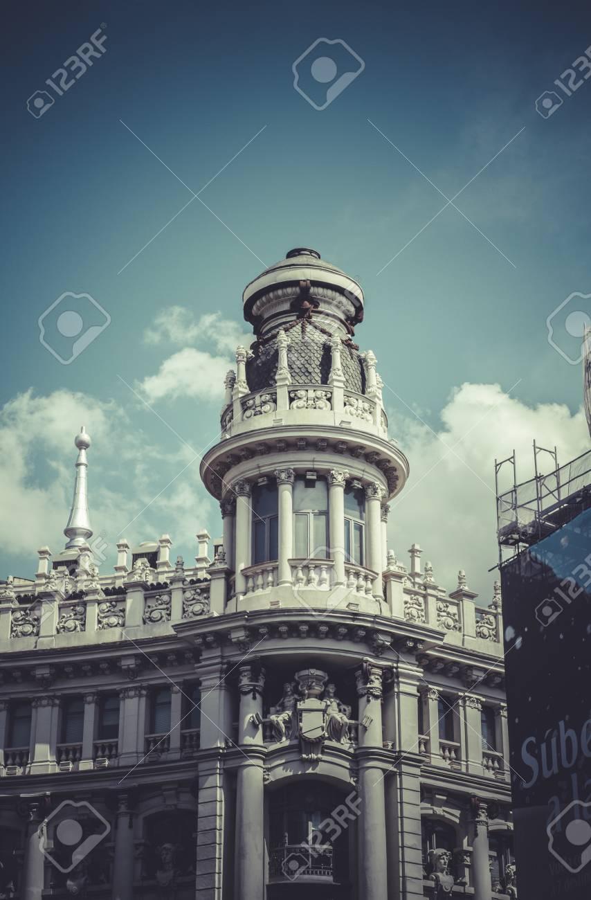 Architettura A Madrid banca, immagine della città di madrid, la sua caratteristica architettura