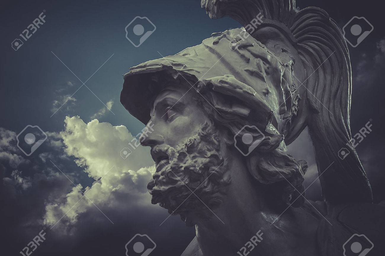 General Pericles, Greek sculptures over clouds background - 29102084