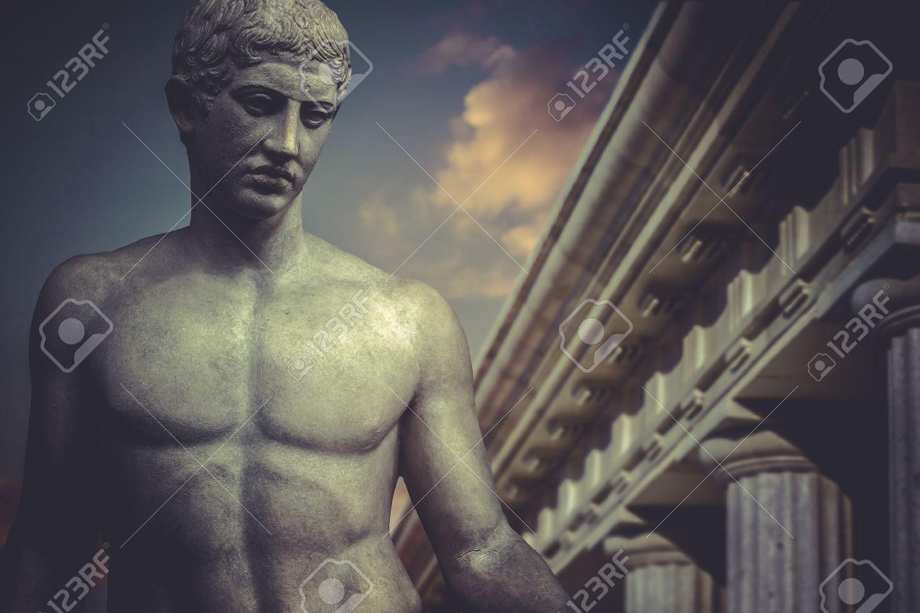 Greek Sculpture, hero apollo, classical statue Stock Photo - 29102167