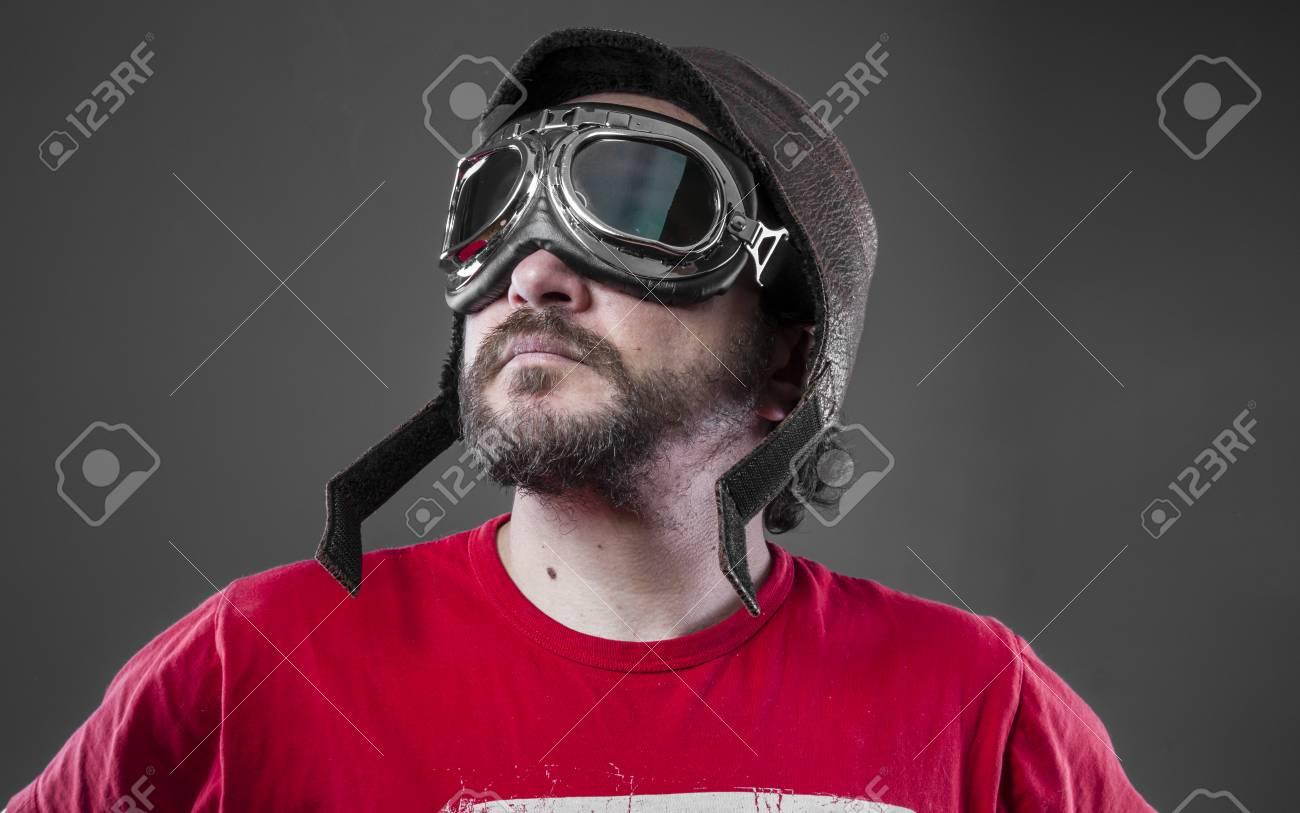 Immagini Cappello Aviatore E Occhiali Con VelocitàUomo Da Stock 0wvnmN8