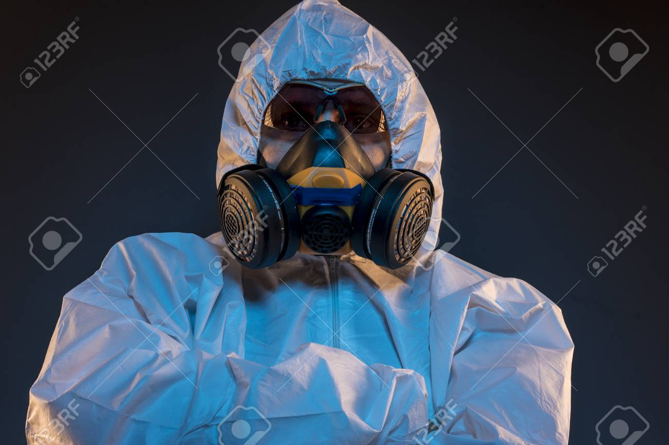 virus gas mask