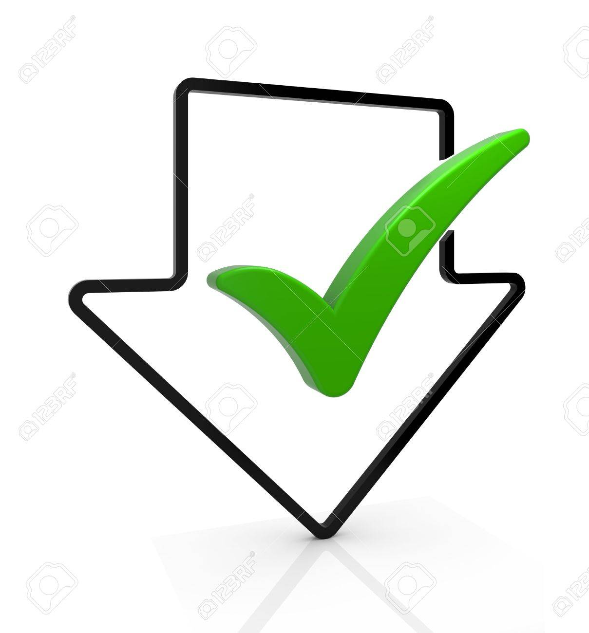 Download Complete Symbol Arrow With Check Mark Part Of A Series