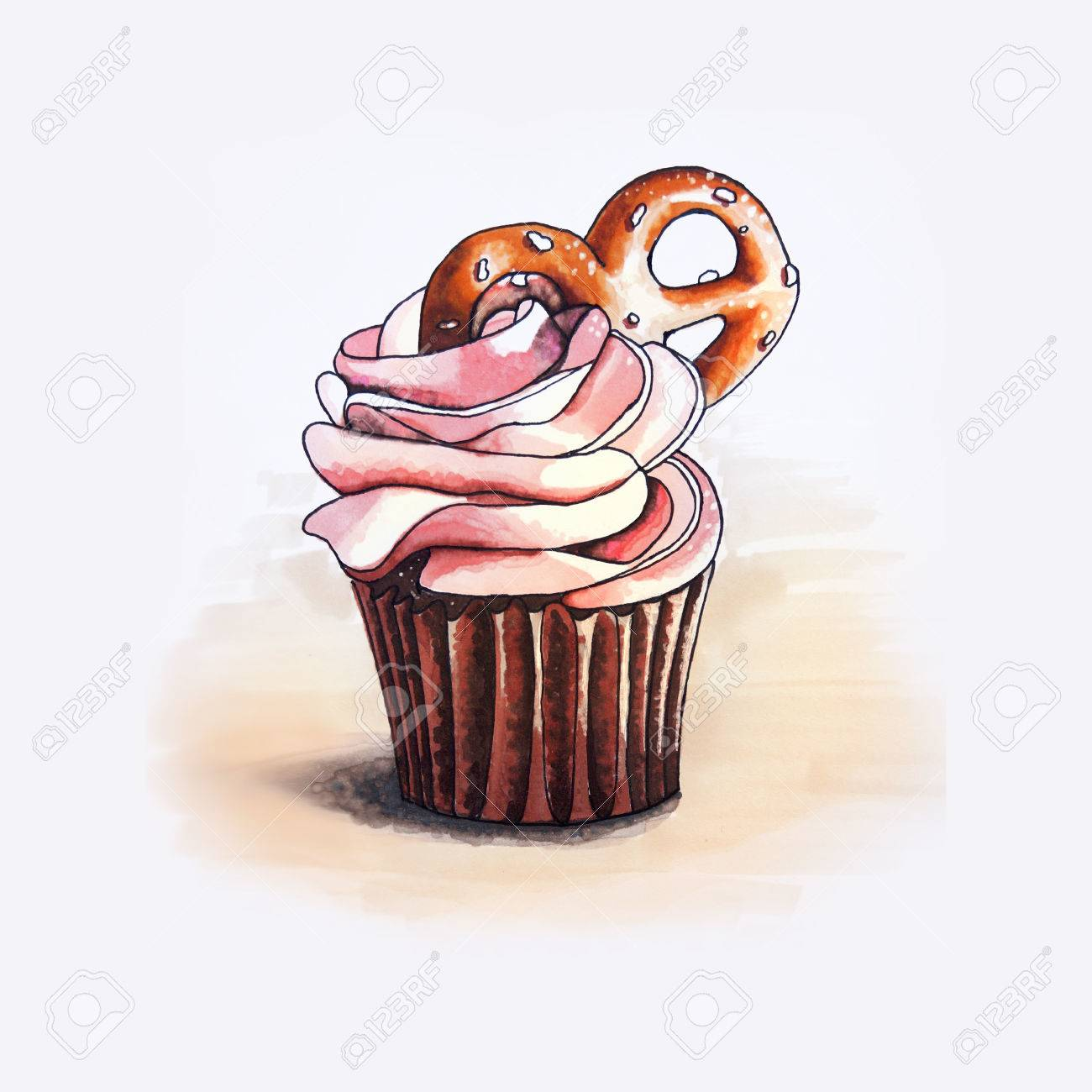 かわいいカップケーキのイラスト の写真素材画像素材 Image 71121212