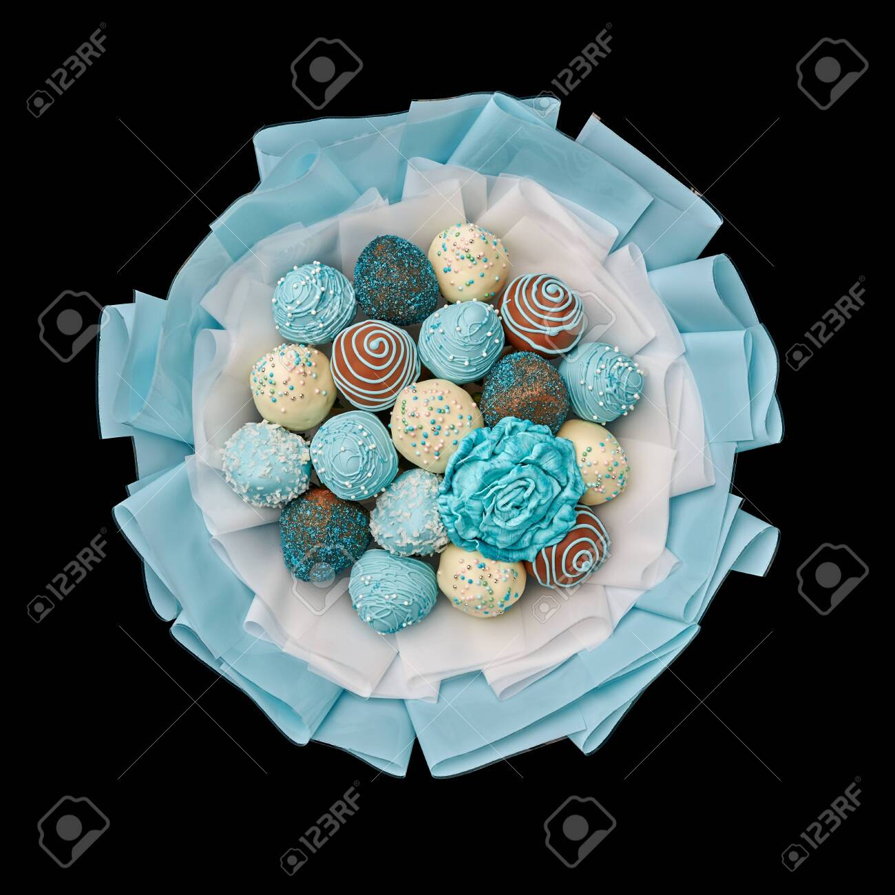Bouquet Of Chocolate Covered Strawberries Stock Photo Picture And Royalty Free Image Image 130338975