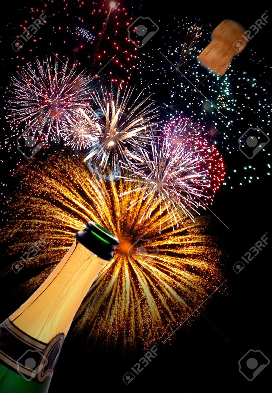 champagne fireworks Stock Photo - 13042506