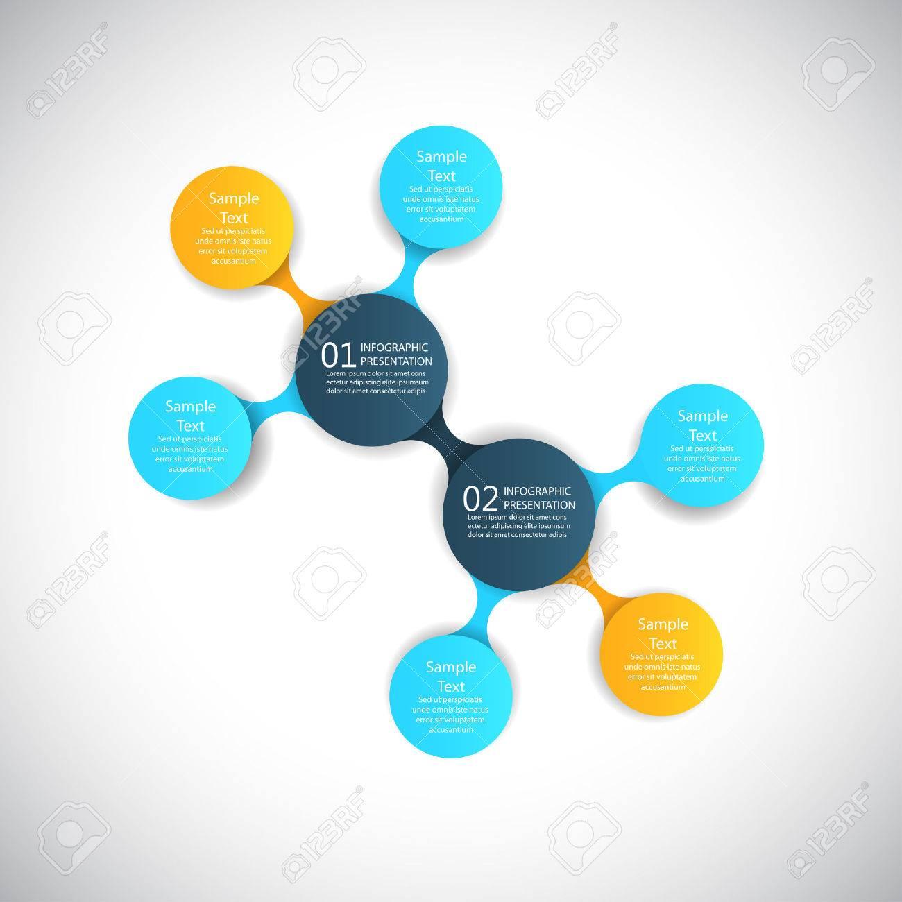 Vektor-Infografiken Metaball Runde Diagramm-Vorlagen Für Business ...