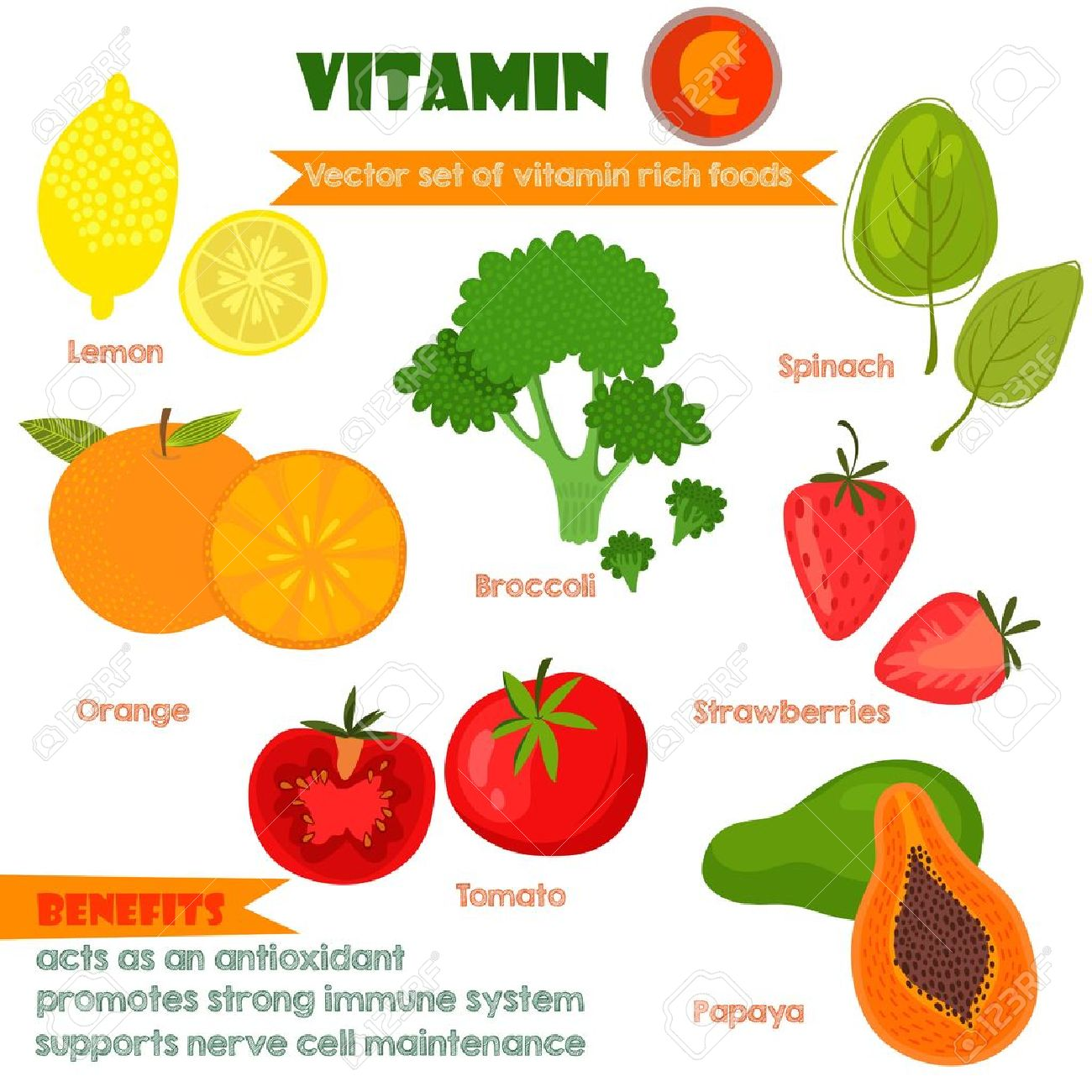 Vitamin c foods vegetables the best vegetable of 2018 fruits and vegetables containing vitamin c stock photo image of workwithnaturefo