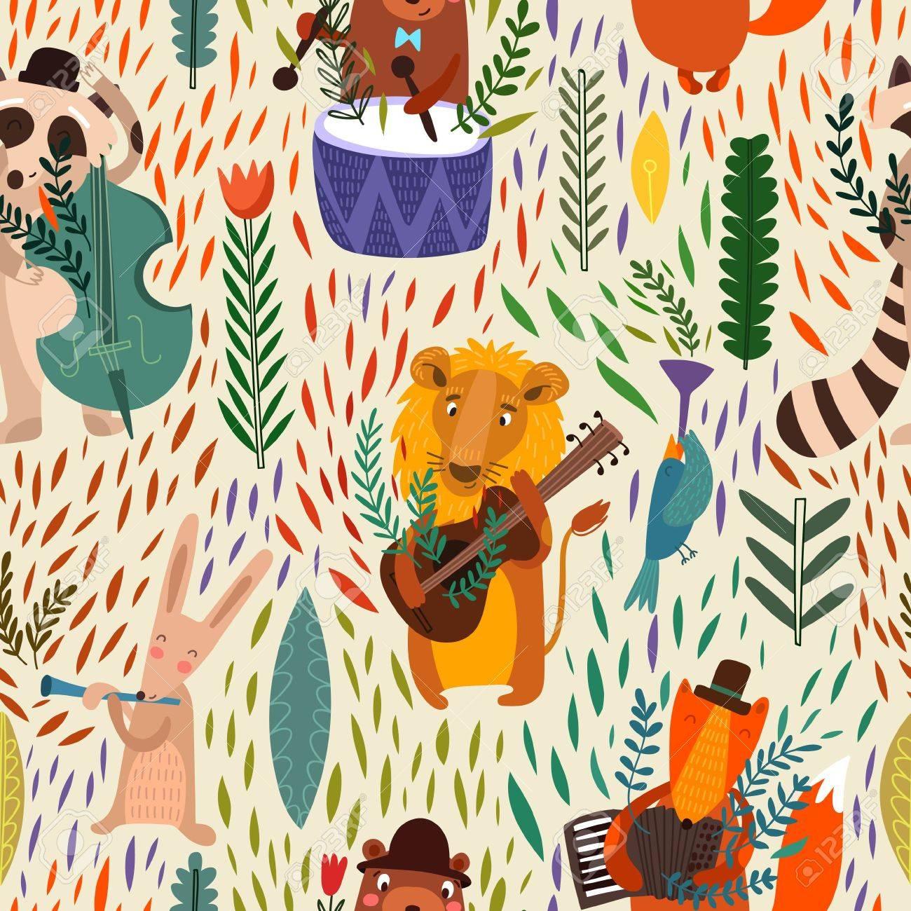 Cartoon Notion Papier Peint Raccoon Le Lion L Ours Le Lievre Le