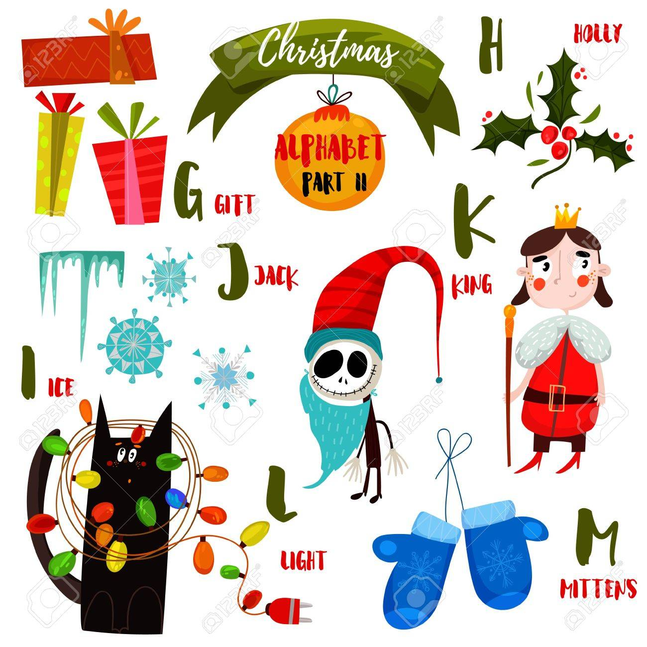 awesome christmas alphabet in vector part ii a lot of holiday