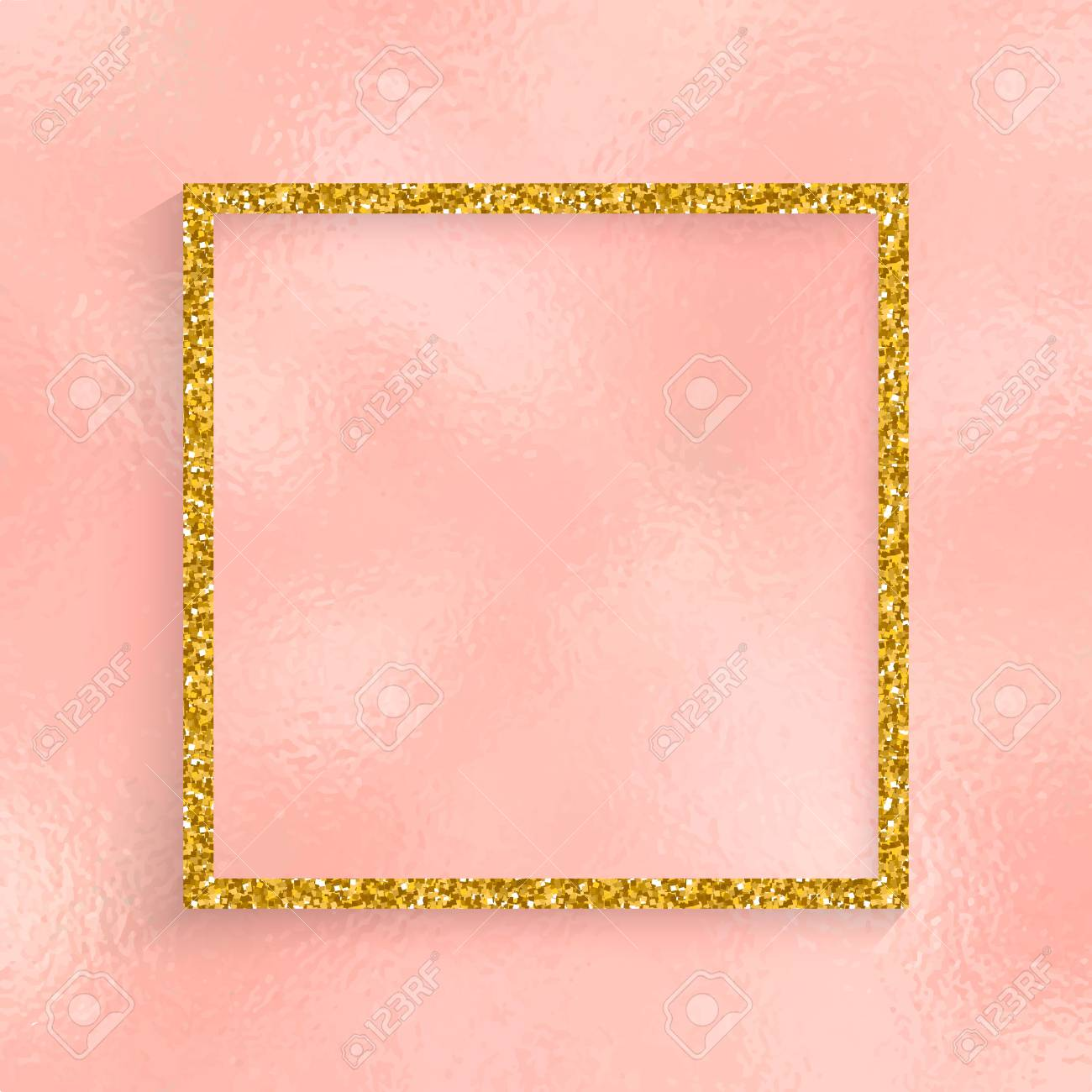 glitter pink and gold invitation background