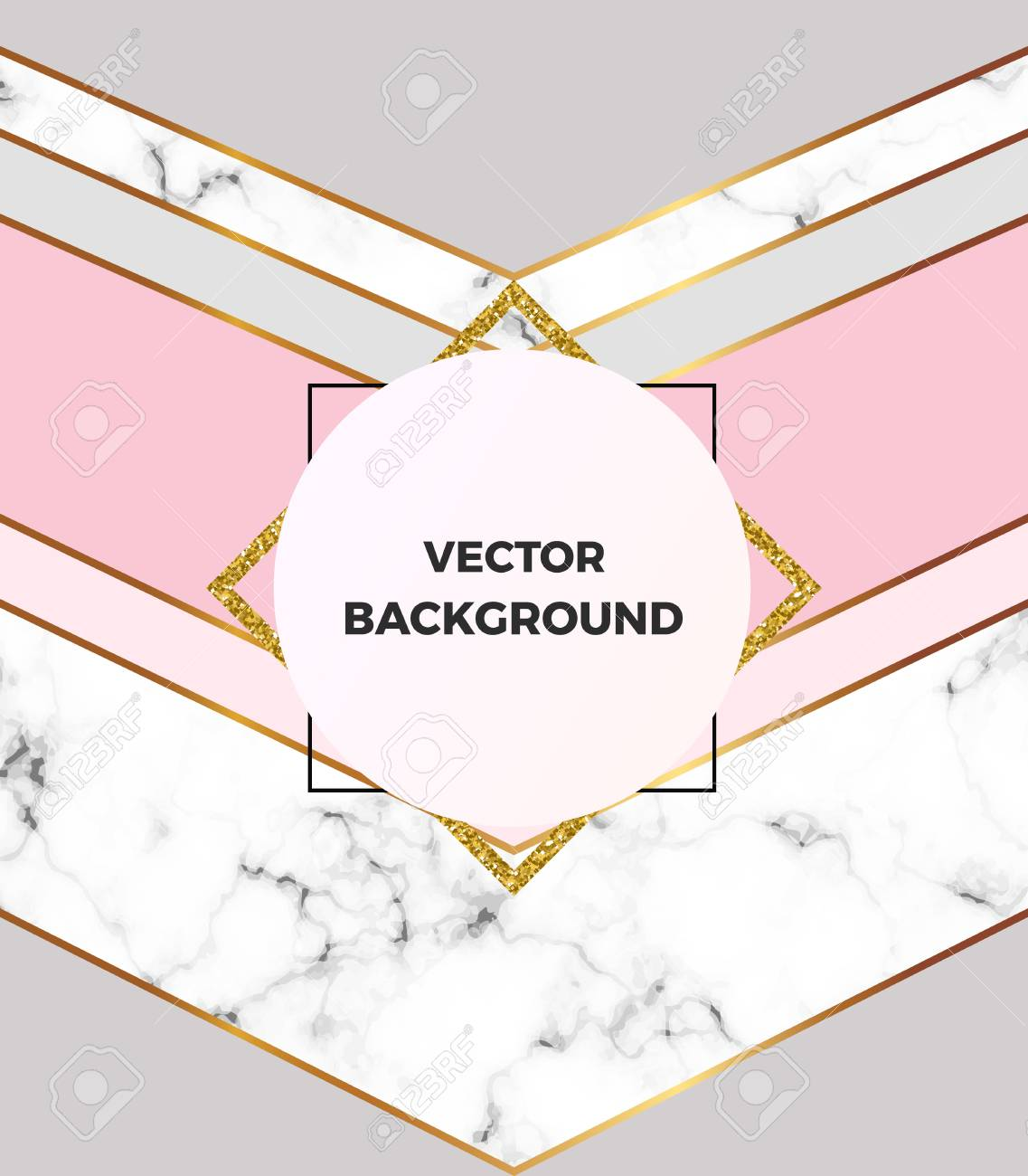 Geometric Design Poster With Gold Cream Gray Pastel Pink And Royalty Free Cliparts Vectors And Stock Illustration Image 99753517