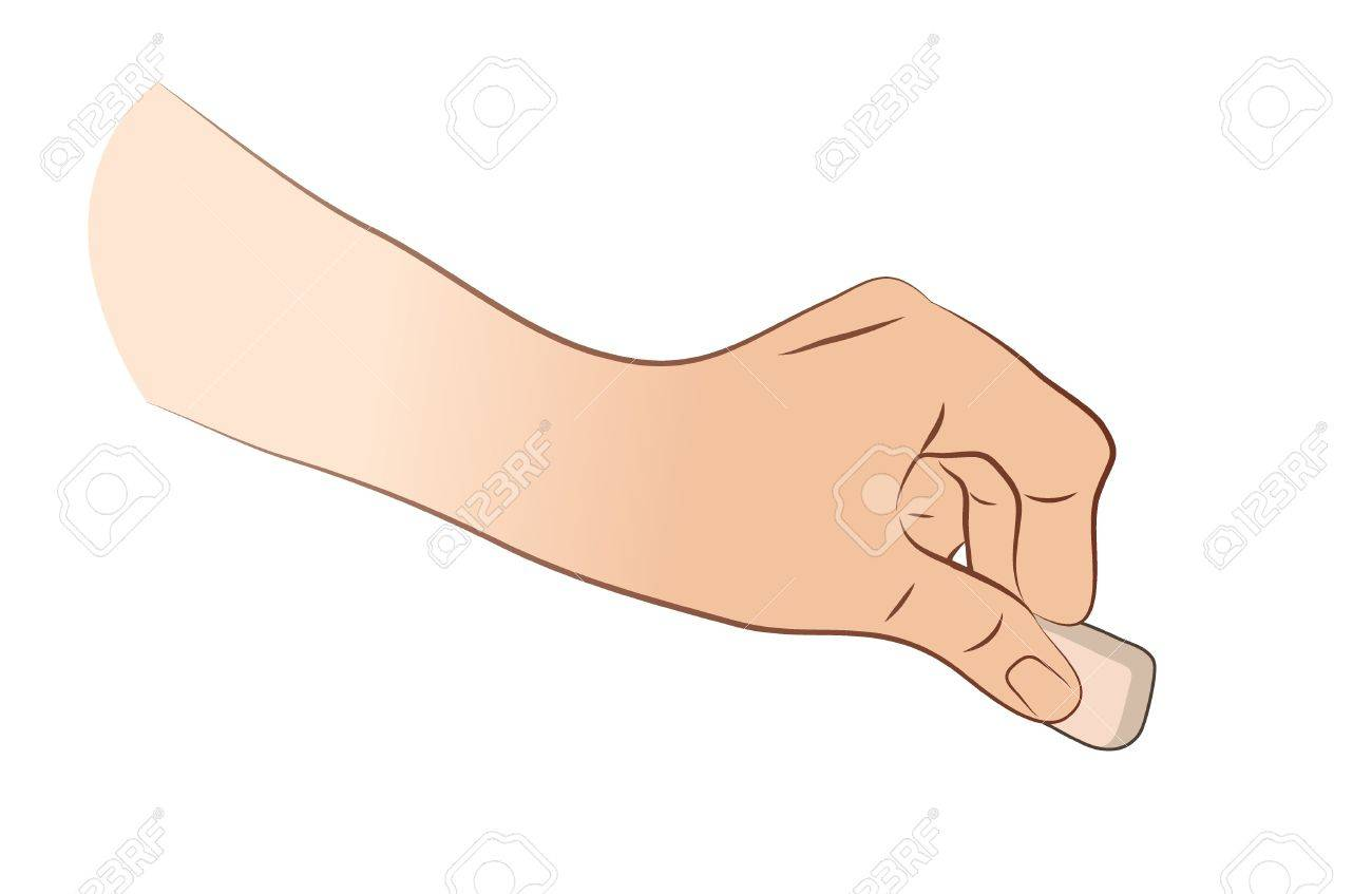 Hand Erasing Something Stock Vector - 21893565
