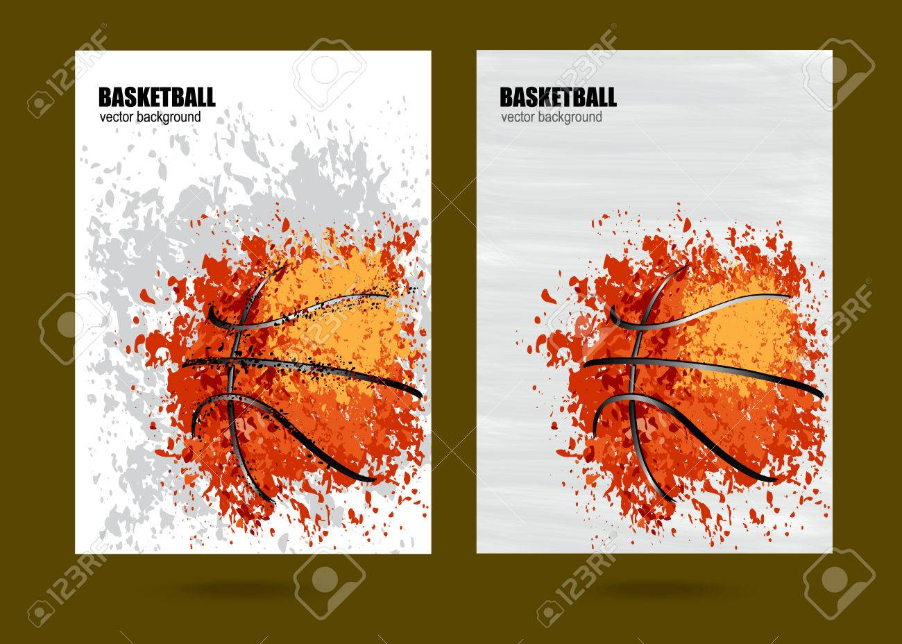 vector illustration basketball basketball sports posters design