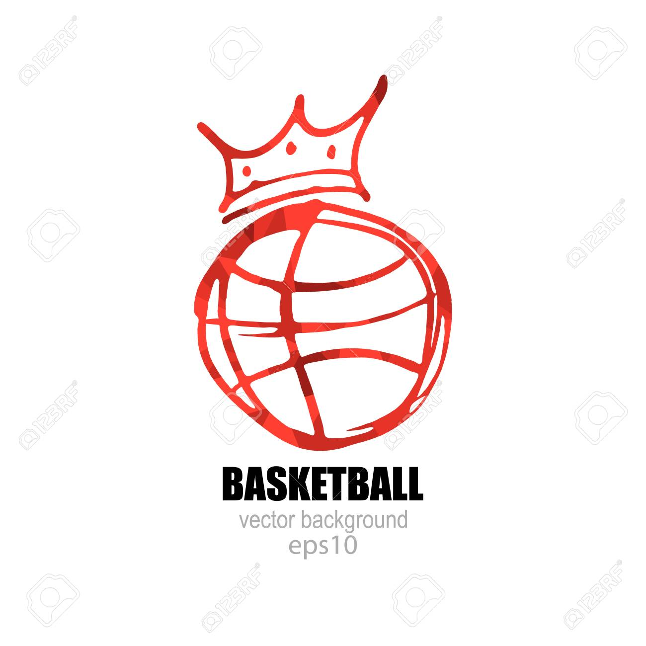 Vector illustration for basketball logo symbol ball with a vector illustration for basketball logo symbol ball with a crown stock vector biocorpaavc Choice Image