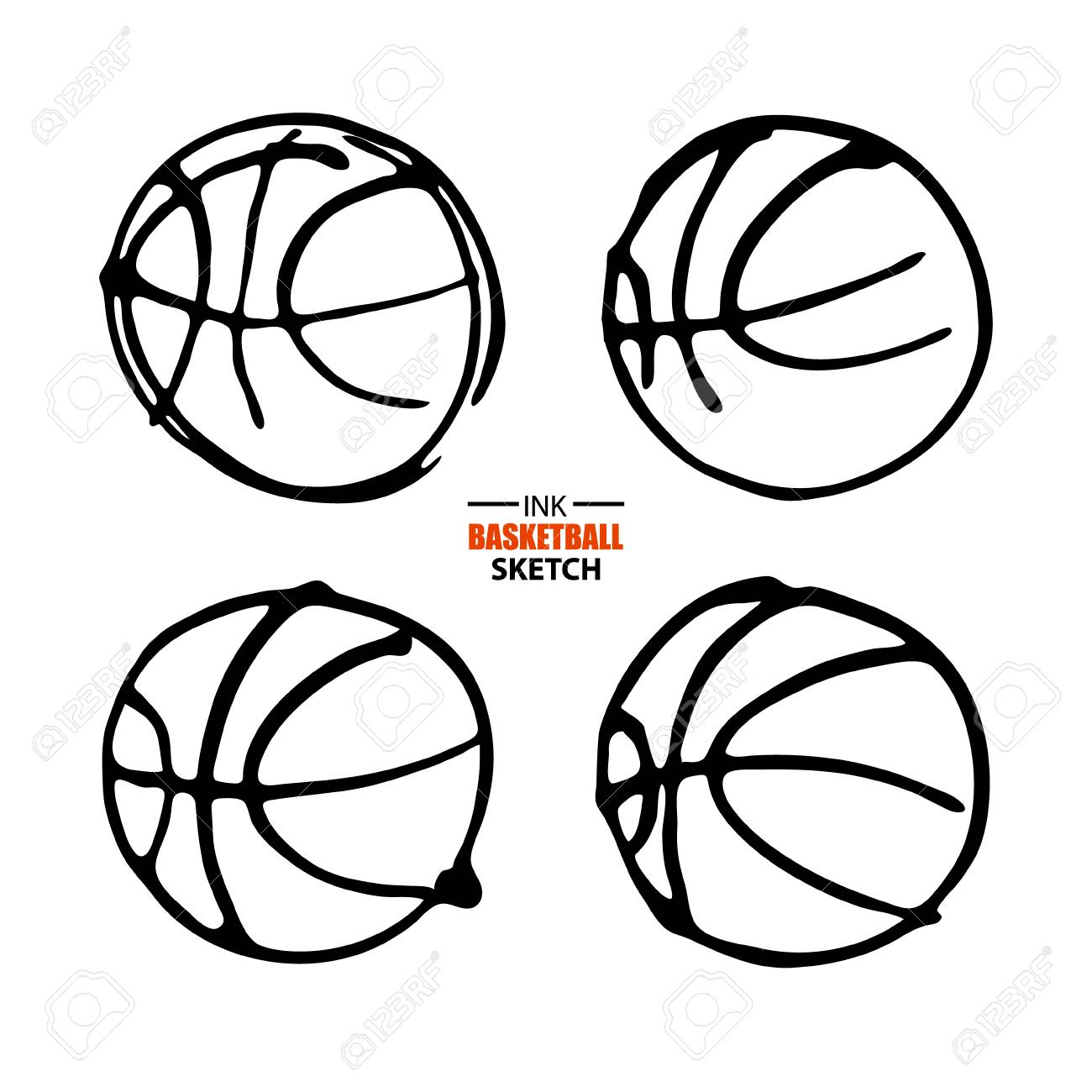 Vector illustration for basketball logo set sketch hand drawing vector illustration for basketball logo set sketch hand drawing symbol ball biocorpaavc Choice Image