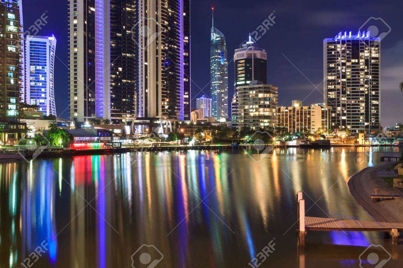 Gold Coast Australia Night City at Night Gold Coast