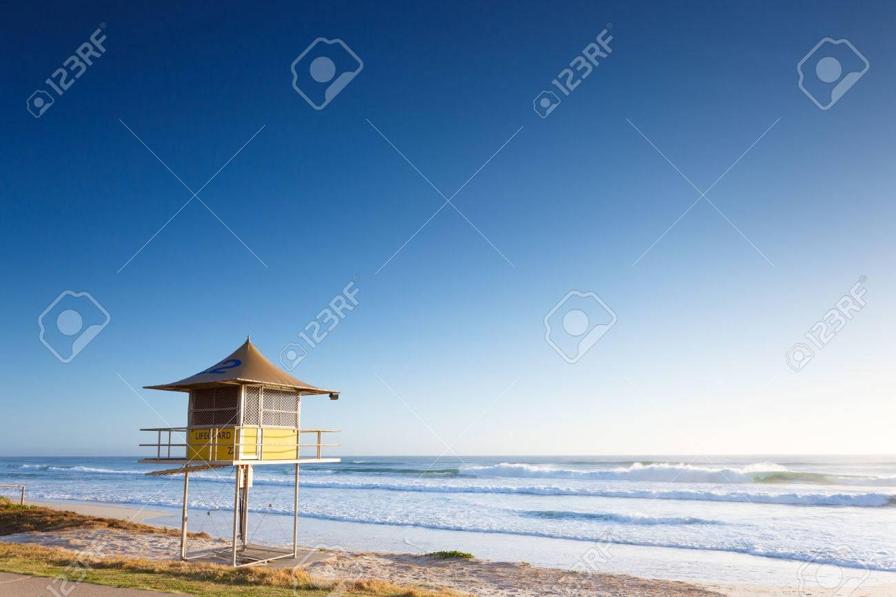 3f5682c9e84 Lifeguard Tower Early Morning (Gold Coast