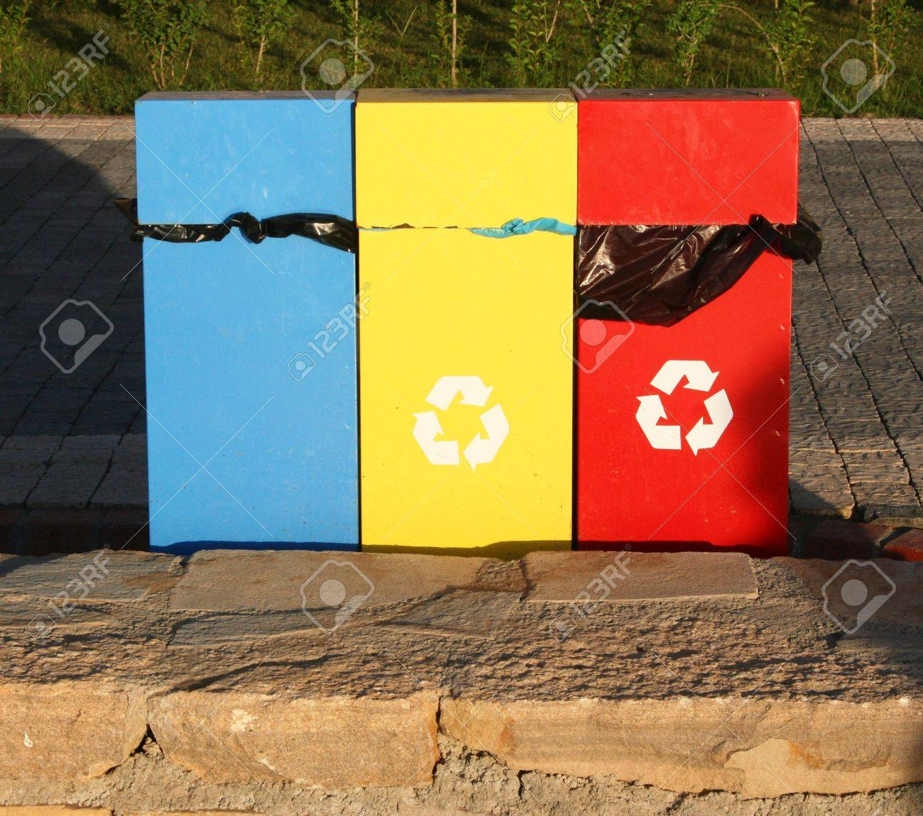 Turkey. Containers for recycling metal, plastic and glass Stock Photo - 7958367